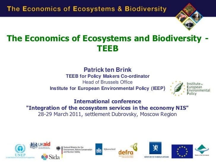 Presentation on TEEB mainly in Russian
