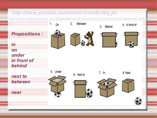 Prepositions Of Place In On Under Next To Exercises ...