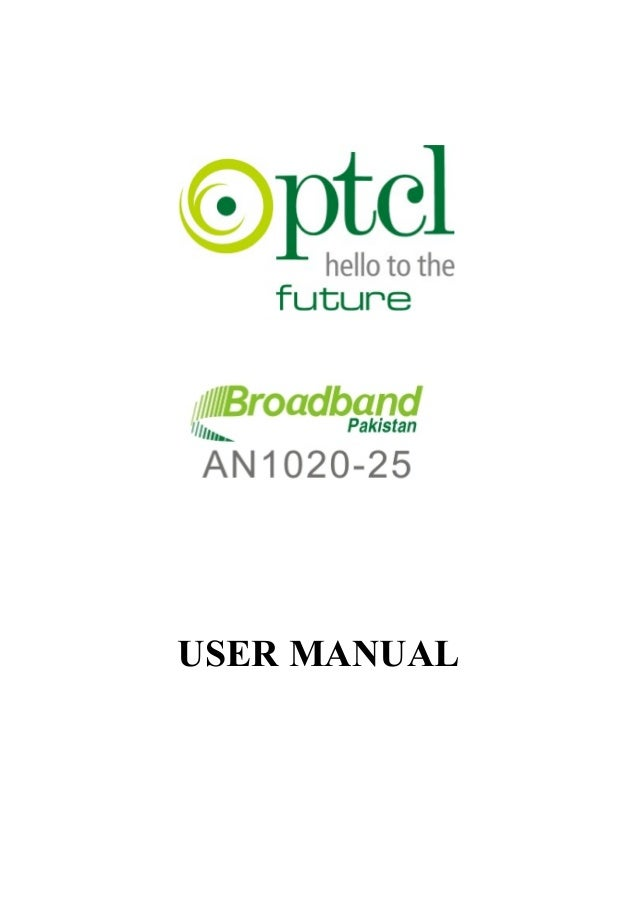 Ptcl modem (user manual)