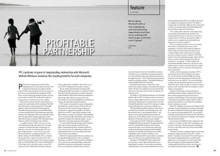 Ptc & microsoft partnership