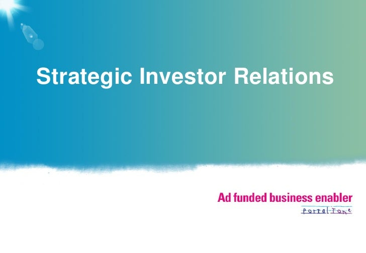 Strategic Investor Relations