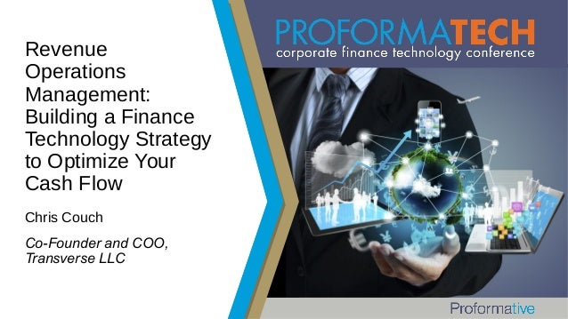 Revenue Operations Management: Building a Finance Technology Strategy to Optimize Your Cash Flow Chris Couch Co-Founder an...