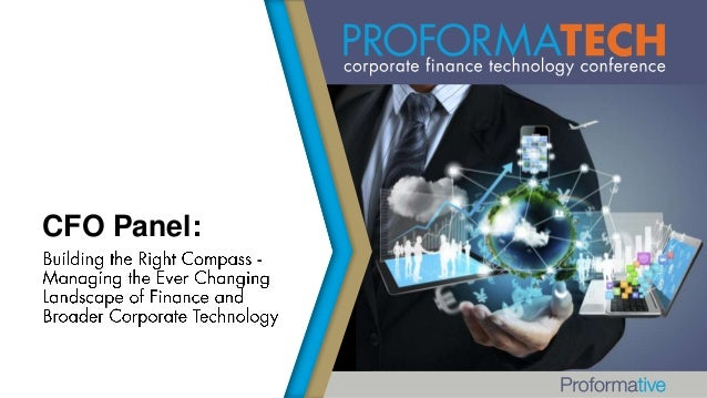 Building the Right Compass - Managing the Ever Changing Landscape of Finance and Broader Corporate Technology