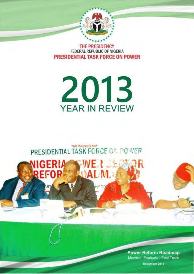 Presidential Task-force  on Power 2013 year in-review report