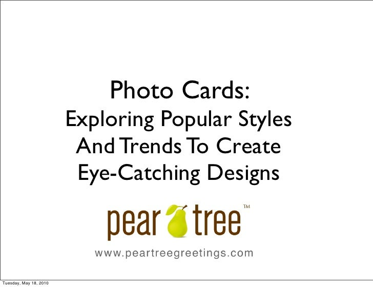 Photo Cards:                         Exploring Popular Styles                          And Trends To Create               ...