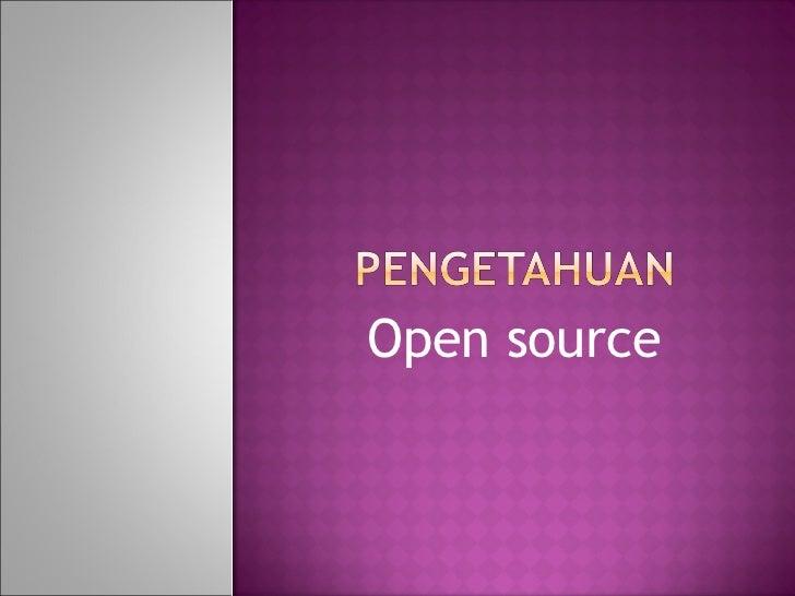 Pengetahuan Open Source
