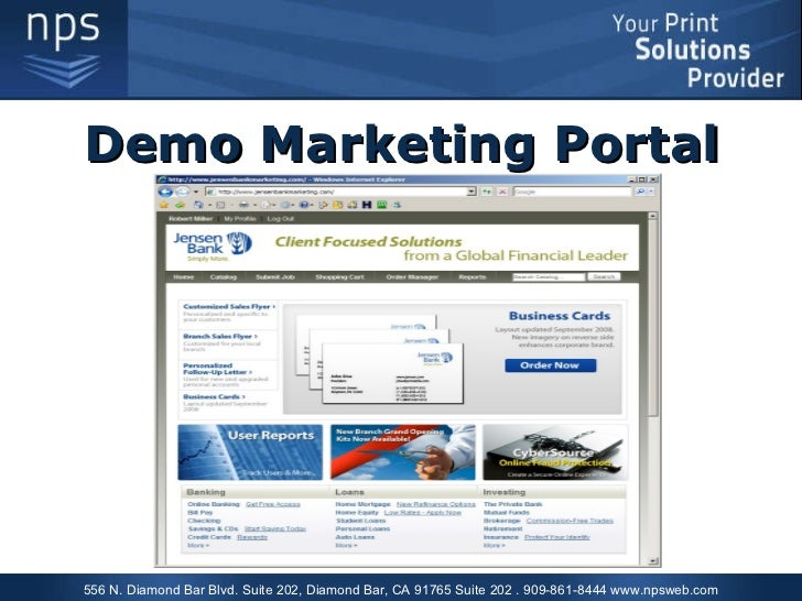 NPS Demo Marketing Portal