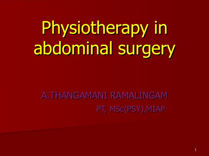 Pt in gastrectomy& cholecystectomy