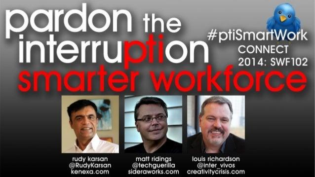 Pardon the Interruption: Smarter Workforce Topics