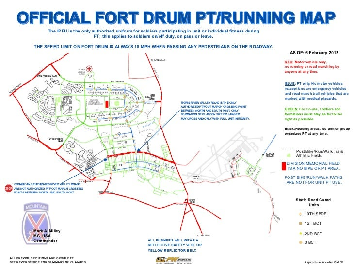 OFFICIAL FORT DRUM PT/RUNNING MAP                                                                                The IPFU ...