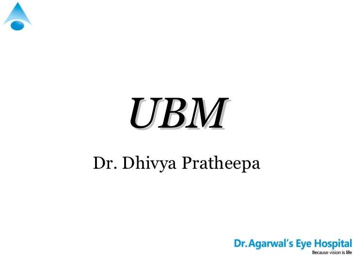 UBMDr. Dhivya Pratheepa