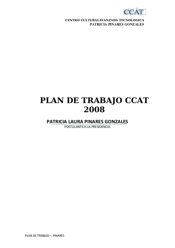 CENTRO CULTURALAVANZADA TECNOLOGICA                                                         PLAN ...