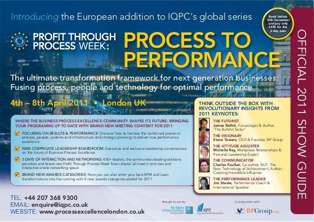 Profit through Process Week Europe Show Guide