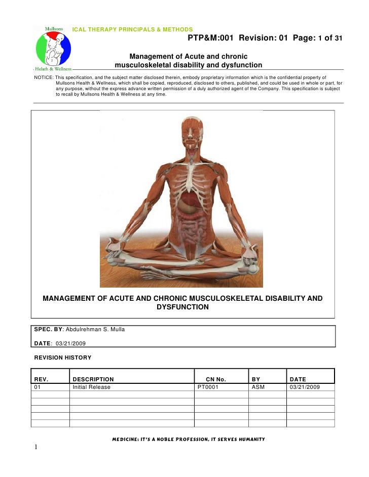 Ptpm001 Ptm Of Common Musculoskeletal Disorders Medical Jou…