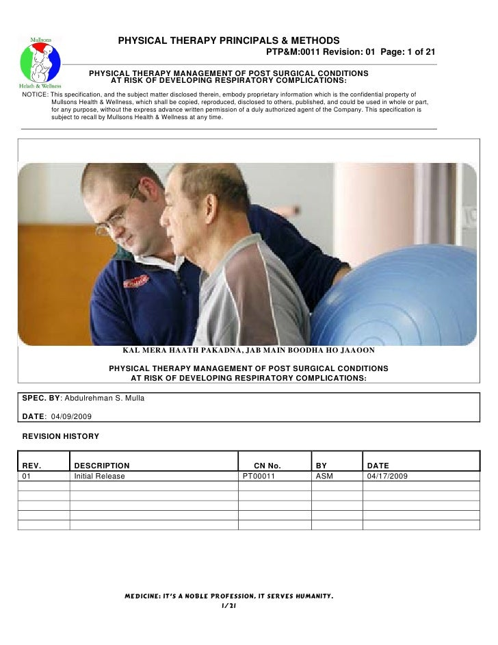 PHYSICAL THERAPY PRINCIPALS & METHODS                                                                                   PT...