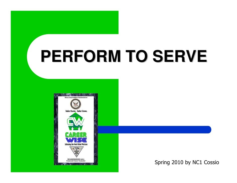 Perform To Serve (Navy Career Wise Training)