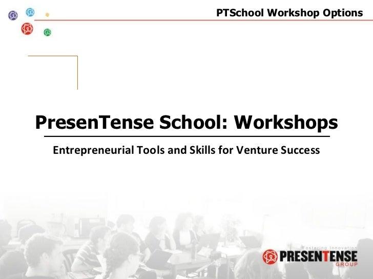PTSchool Workshops