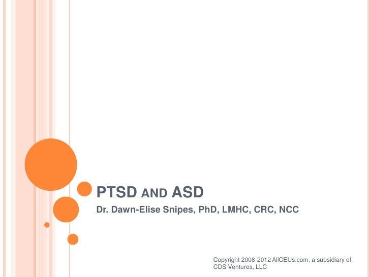 PTSD and ASD