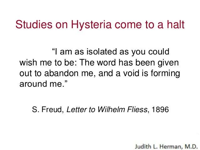 the aetiology of hysteria freud pdf