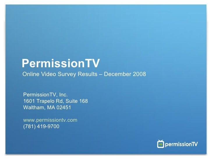 PTV Digital Marketing Survey Results