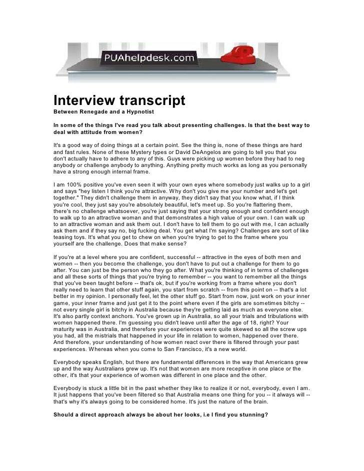 Puahelpdesk Hypnotist Interview