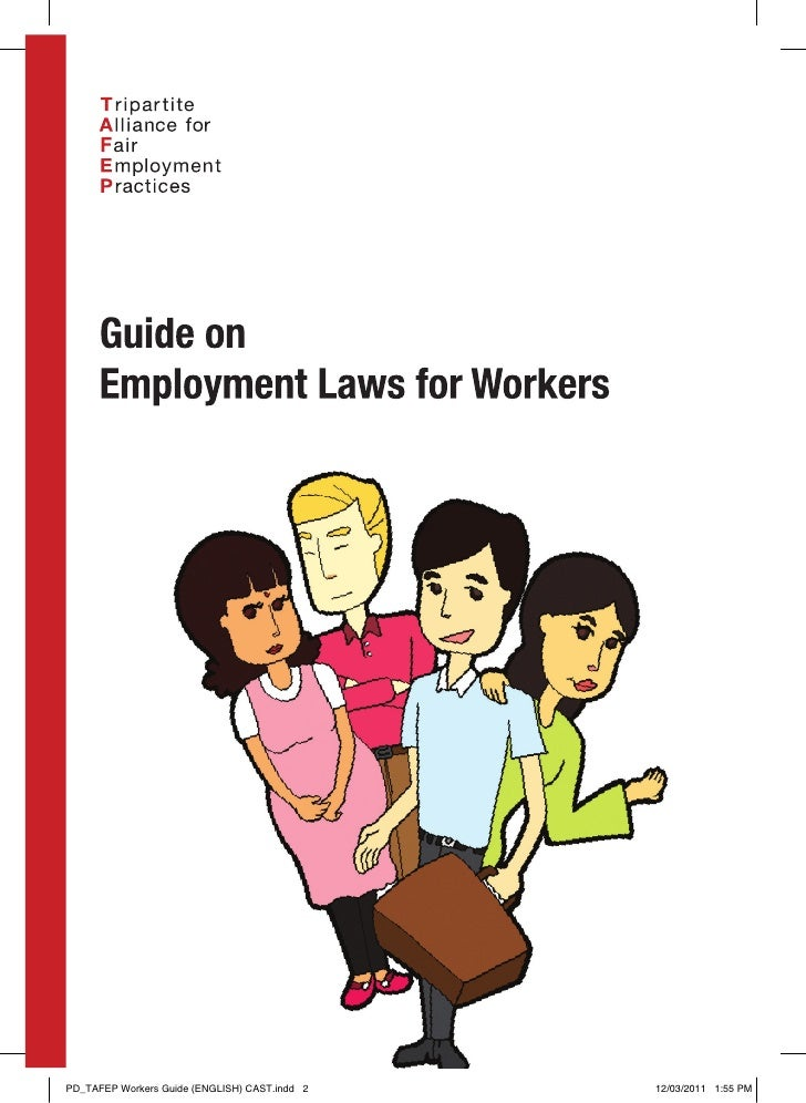 Pub - Employment Laws For Workers Booklet - English