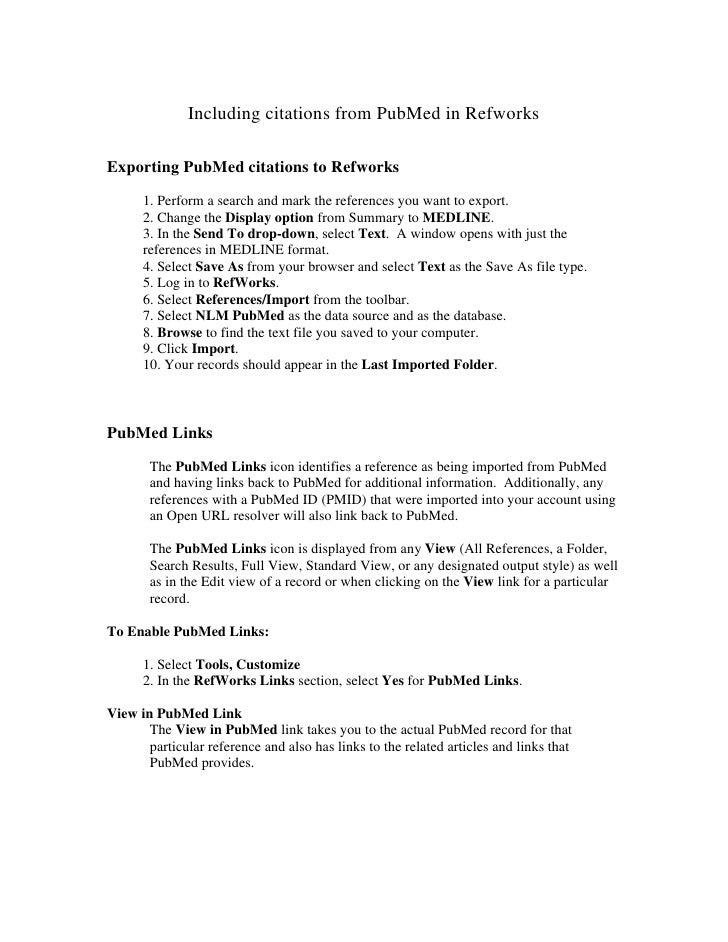 Pub Med Ref Works Citations