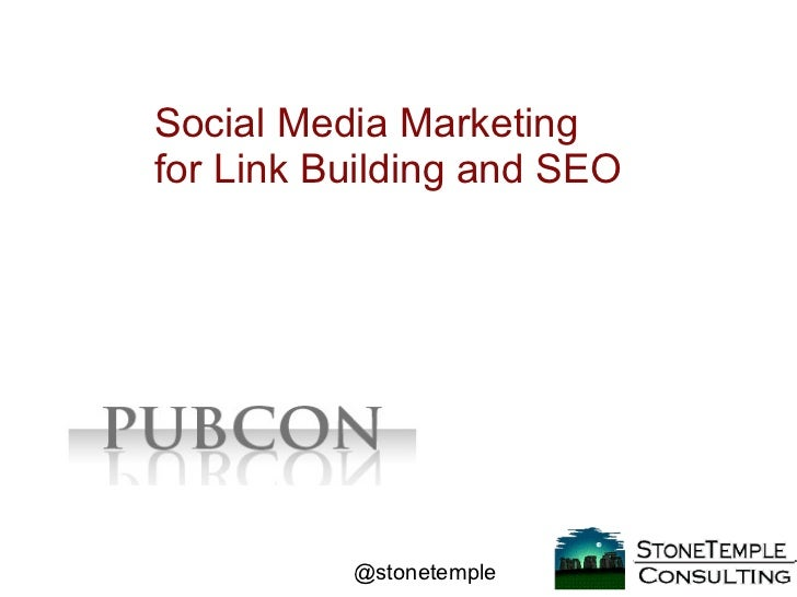 Social Media Marketing for Link Building and SEO
