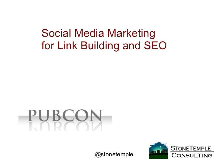 Social Media Marketing and SEO (Pubcon)