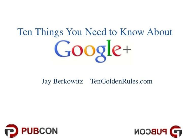 Google+ Pubcon Presentation
