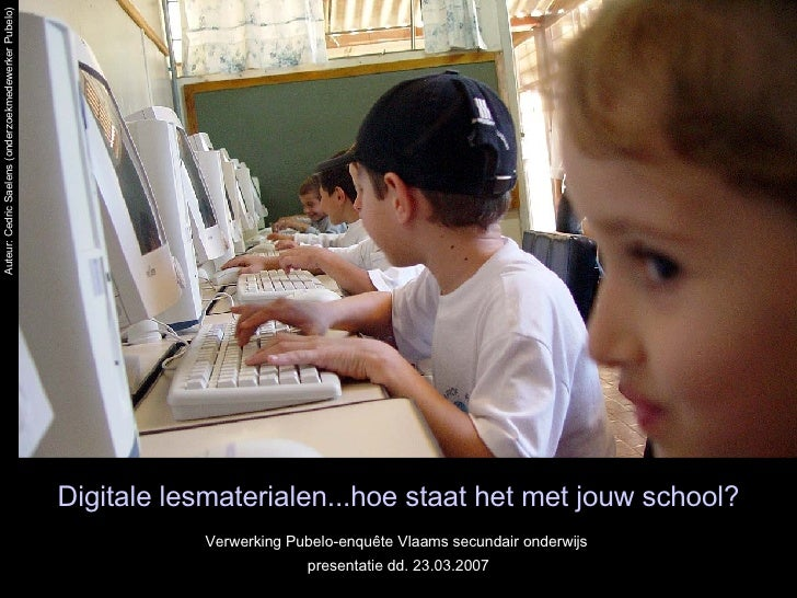Pubelo-enquête Vlaams secundair onderwijs
