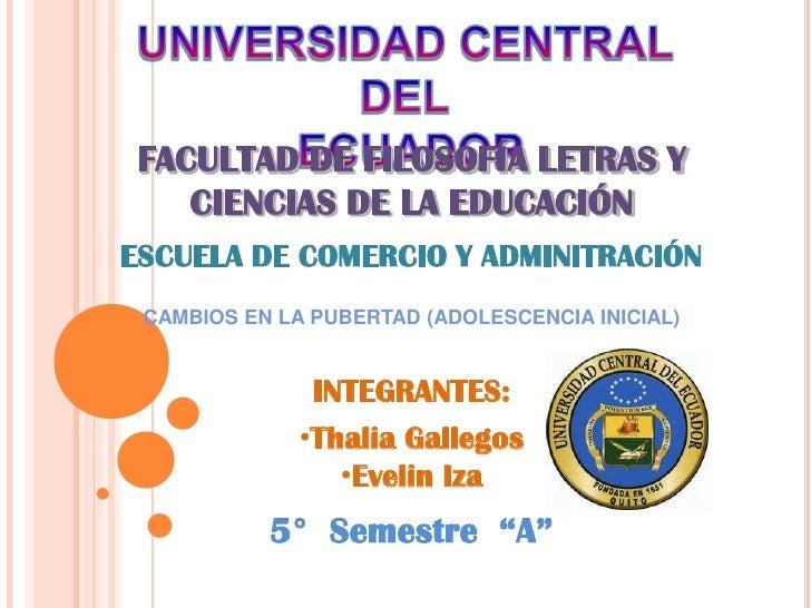 UNIVERSIDAD CENTRAL DEL<br /> ECUADOR<br />FACULTAD DE FILOSOFÍA LETRAS Y CIENCIAS DE LA EDUCACIÓN<br />ESCUELA DE COMERCI...