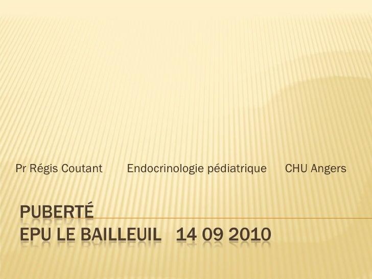 Pr Régis Coutant  Endocrinologie pédiatrique    CHU Angers