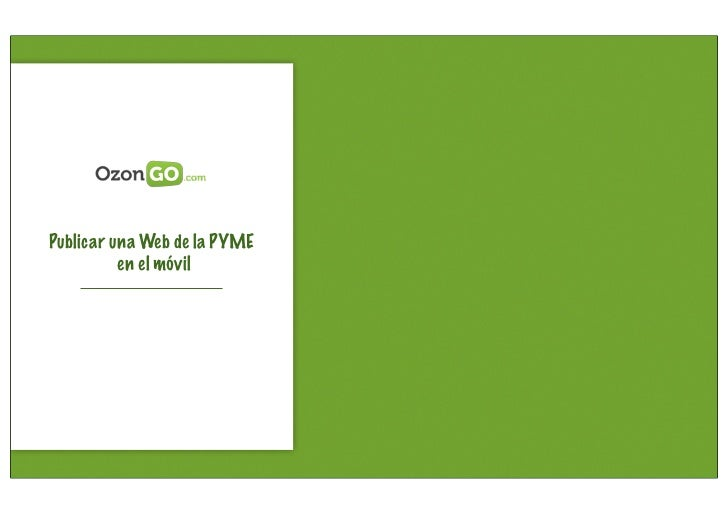 Publicar una Web de la PYME          en el móvil