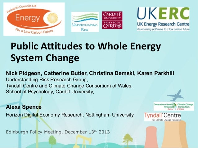 Public attitudes to whole energy system change