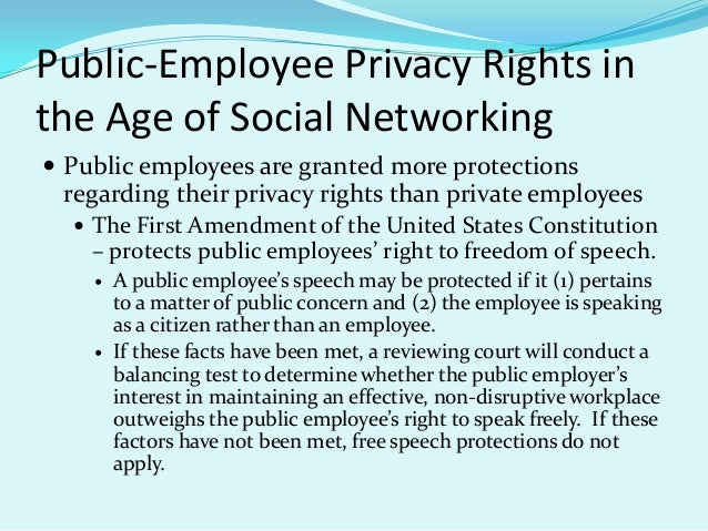 thesis employee privacy rights in the workplace Unlike most editing & proofreading services, we edit for everything: grammar, spelling, punctuation, idea flow, sentence structure, & more get started now.