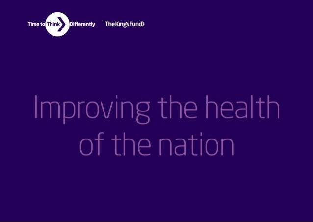 Improving the health of the nation infographics