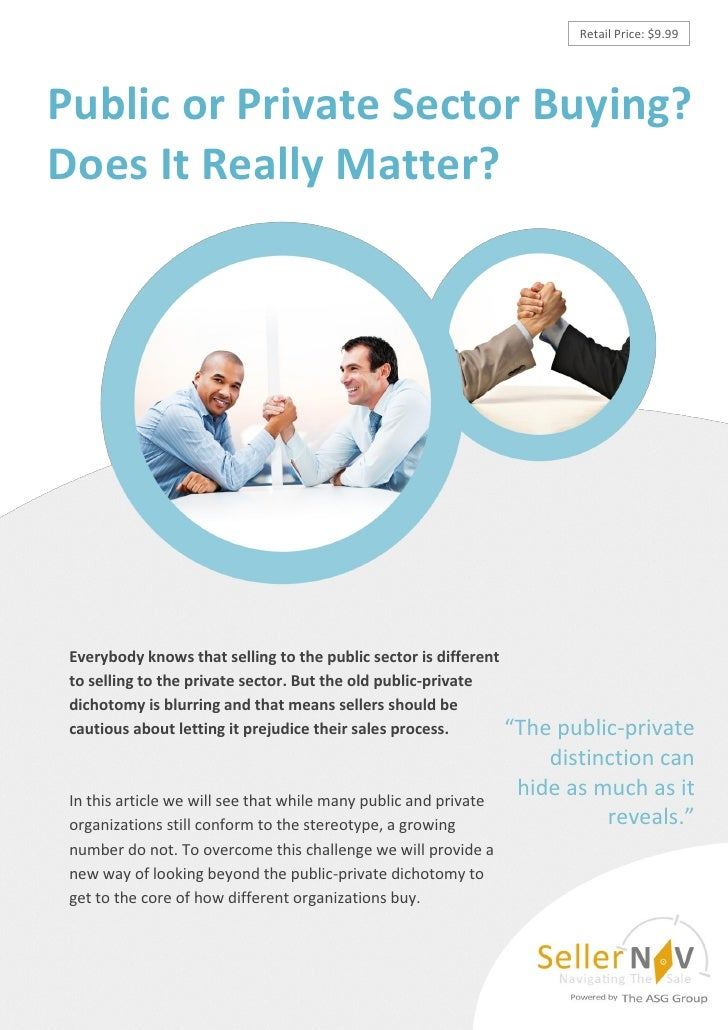 Retail Price: $9.99Public or Private Sector Buying?Does It Really Matter? Everybody knows that selling to the public secto...