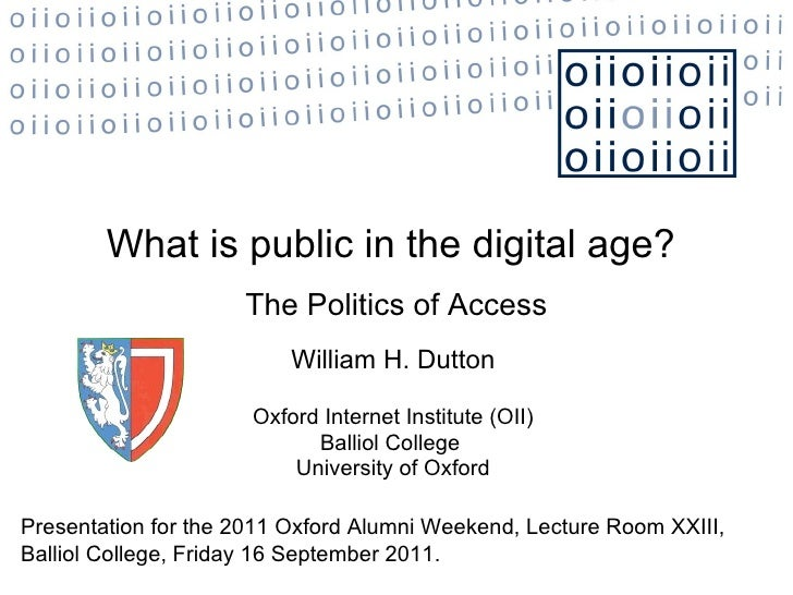 What is public in the digital age?