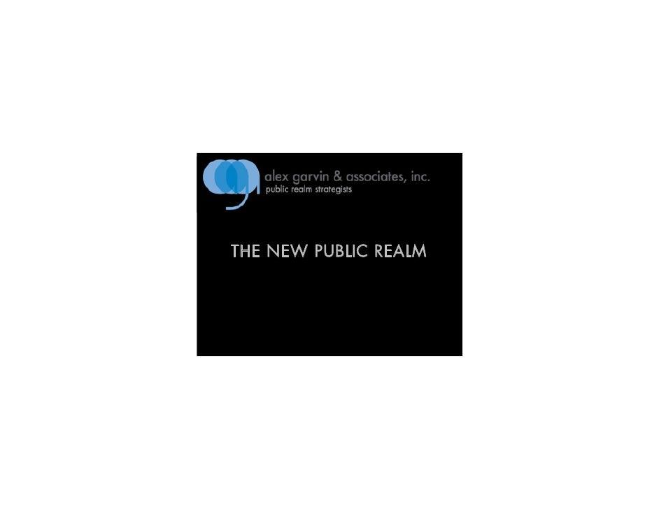 THE NEW PUBLIC REALM