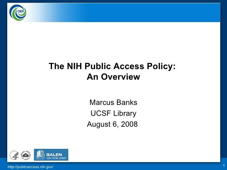 Public Access Short Presentation  Ucsf Modify