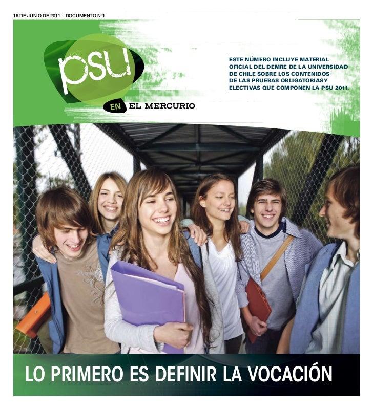 Temario PSU 2012
