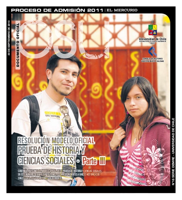 DEMRE: [Respuestas 3] Historia PSU 2010