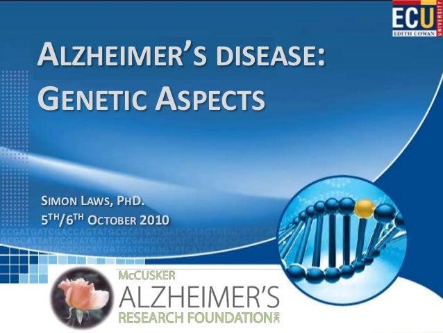 Alzheimer's disease: Genetic Aspects