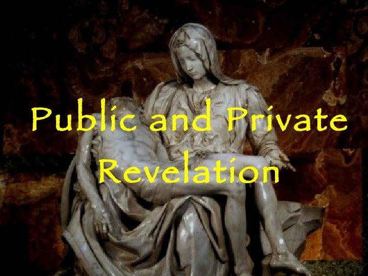 Public And Private Revelation