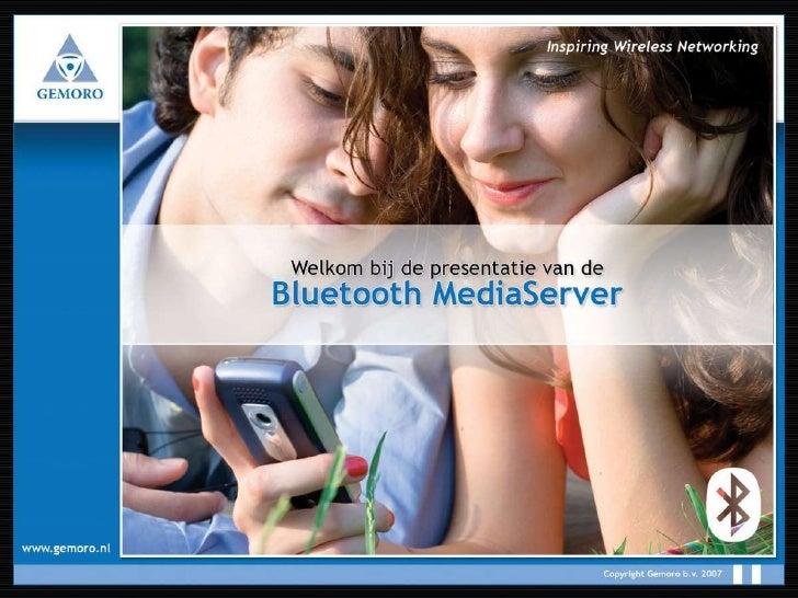 Gemoro Mobile Media - Bluetooth Mediaserver