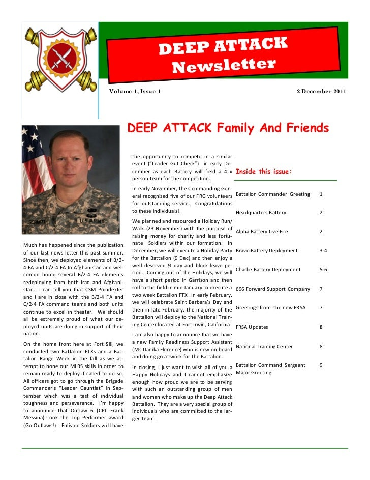 Holiday Newsletter