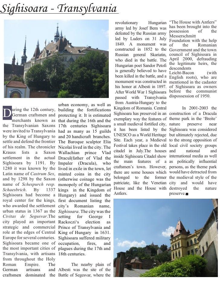 Publication Sighisoara
