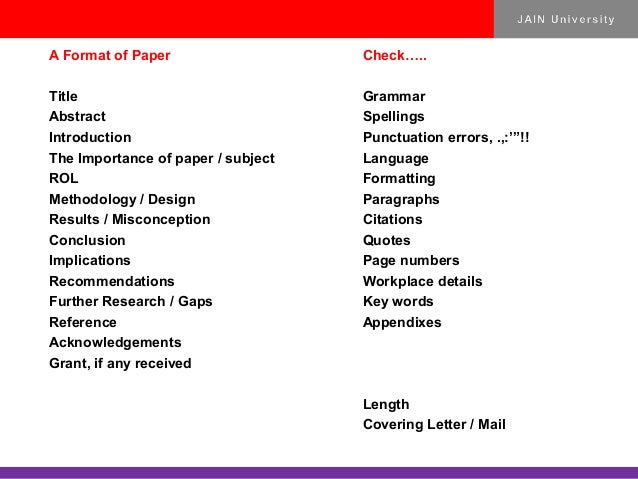 subjects for research paper