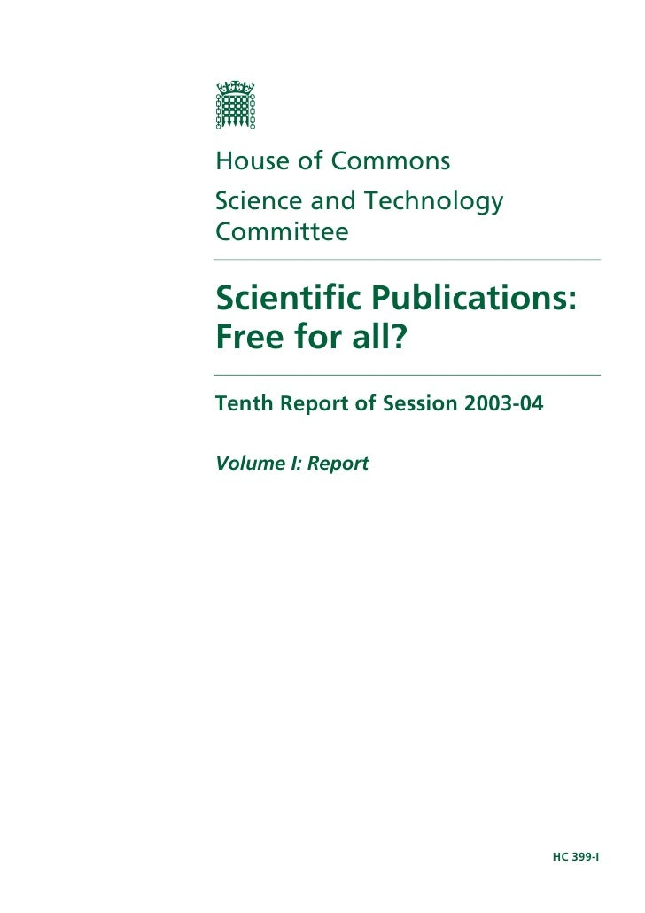 Publication of open access